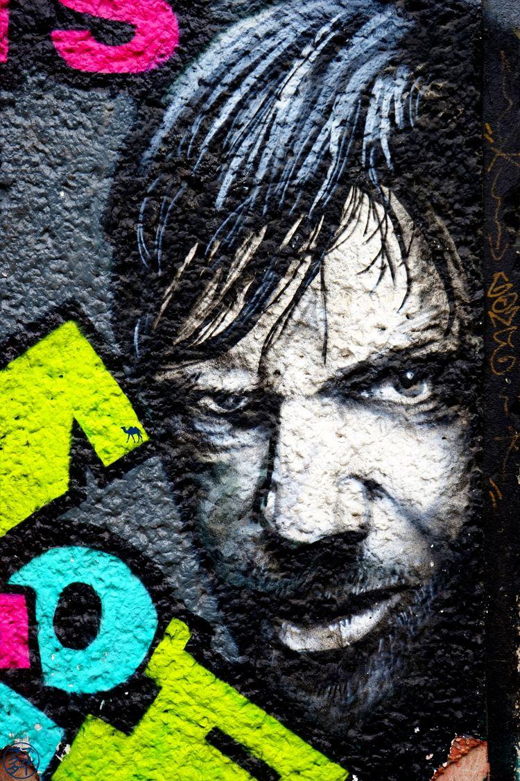 Le Chameau Bleu - Street Art Berlin Allemagne - Visage