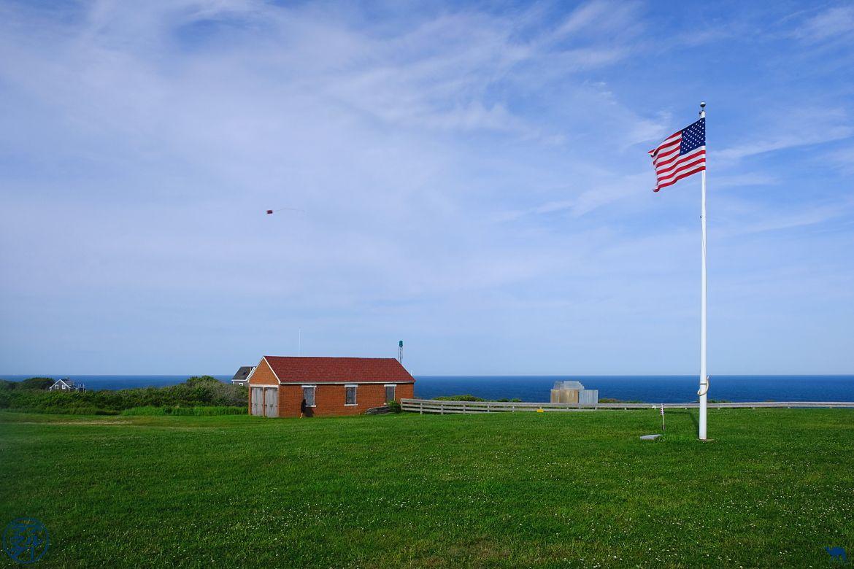 Le Chameau Bleu - Blog Voyage Block Island - Drapeau Américain sur Block Island - Rhode Island