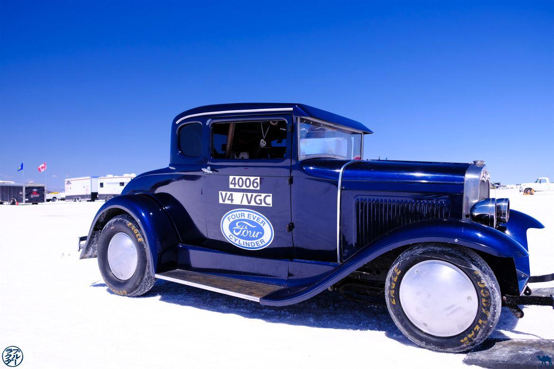 Le Chameau Bleu - Blog Voyage Salt Lake City - Voiture Vintage BonneVille Flats