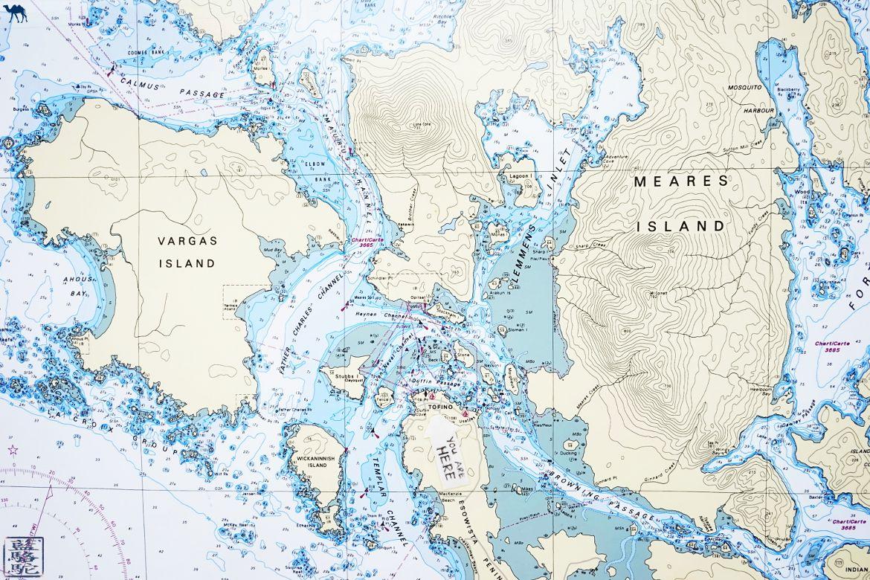Le Chameau Bleu - Blog Voyage Tofino Ile de Vancouver - Carte de Tofino et iles environnantes - Ile de Vancouver