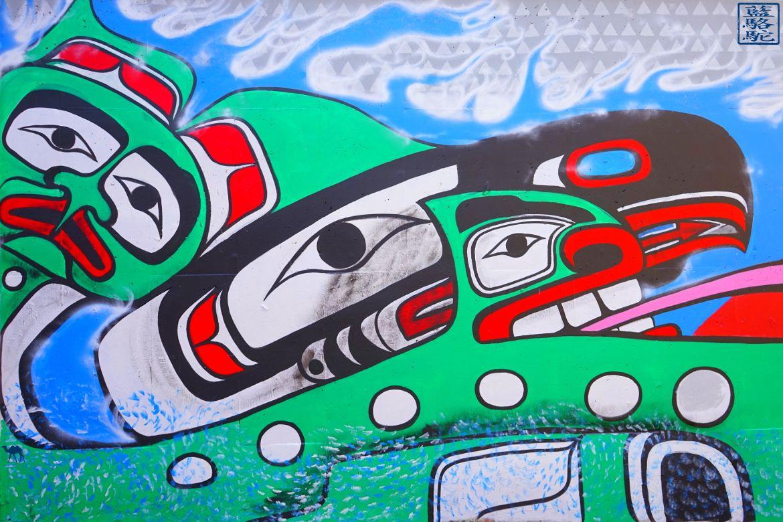 Le Chameau Bleu - Blog Voyage Vancouver Canada - Peintures Murales Indiennes de Vancouver