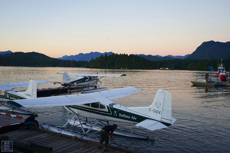 Le Chameau Bleu - Blog Voyage Tofino Ile de Vancouver - Air Tofino - Hydravion depuis la baie de Tofino Canada