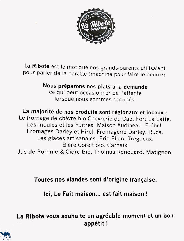 Le Chameau Bleu - Blog Voyage et Gastronomie - carte ribote