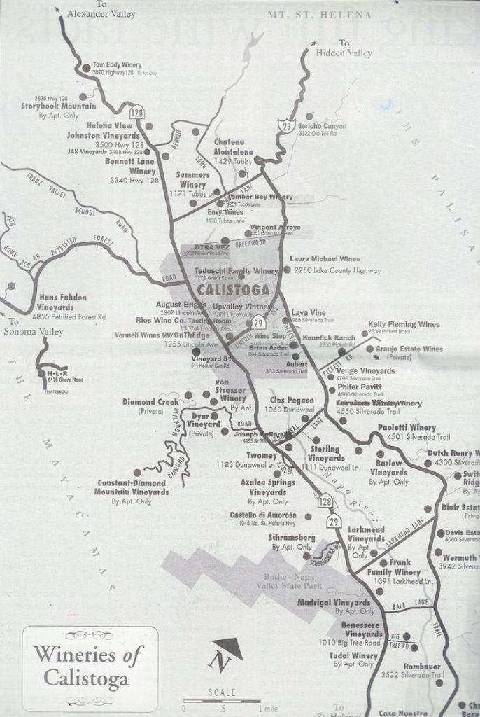 Le Chameau Bleu - Blog Voyage Napa Valley - Carte de Calistoga