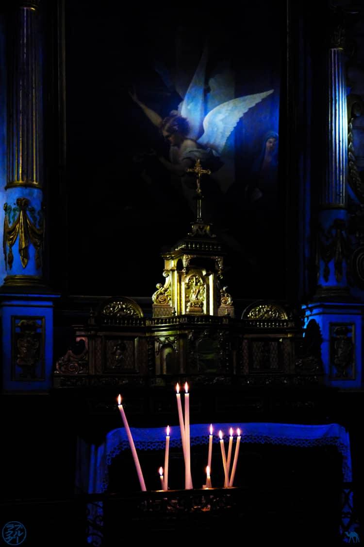 Le Chameau Bleu - Blog Voyage et Cuisine - Cierges Eglise Saint Jacques de Montauban