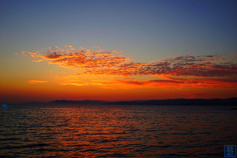 Le Chameau Bleu - Blog Voyage Méditerranée -plage du cros brusc- Couché de soleil