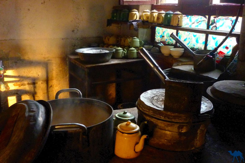 maison de thé au Xinjiang- le chameau bleu- cuisine