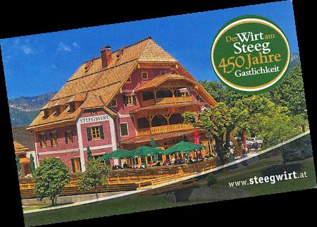 Le Chameau Bleu - Blog Voyage Dachstein Autriche - Carte de visite de Steegwirt