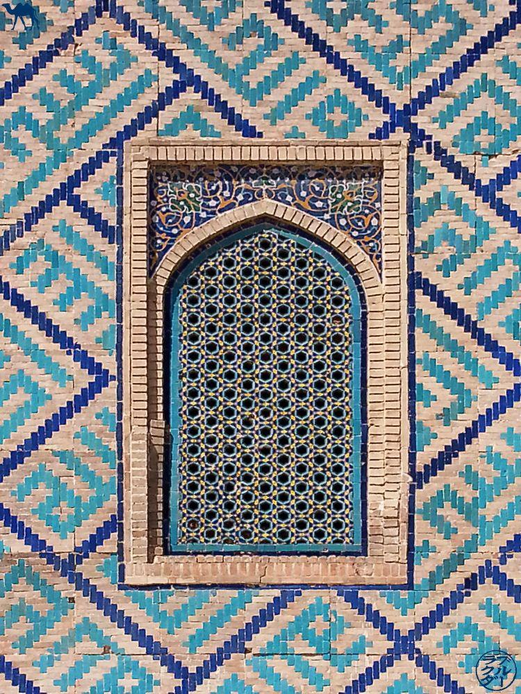Le Chameau Bleu - Blog Voyage Ouzbékistan - Mur et fenêtre de Samarcande - Asie Centrale