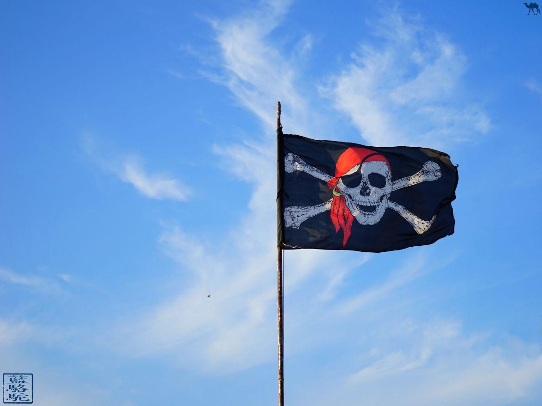 Le Chameau Bleu - Blog Voyage Var - Drapeau de pirate au Brusc - Sud Est France