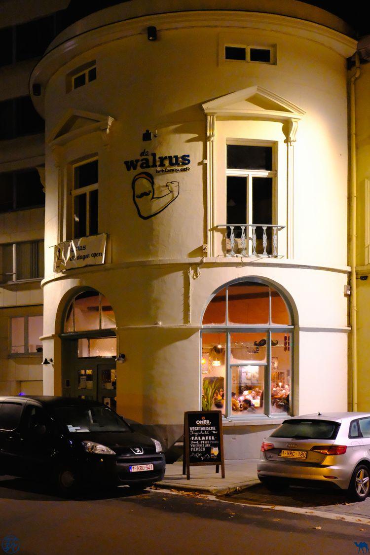 Le Chameau Bleu - Blog Voyage Gand - Restaurant Walrus - Exterieur