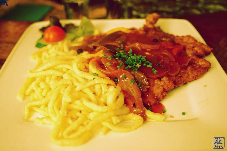 Le Chameau Bleu - Blog Voyage Heidelberg Allemagne - Schnitzel au Restaurant SUDPFANNE a Heidelberg