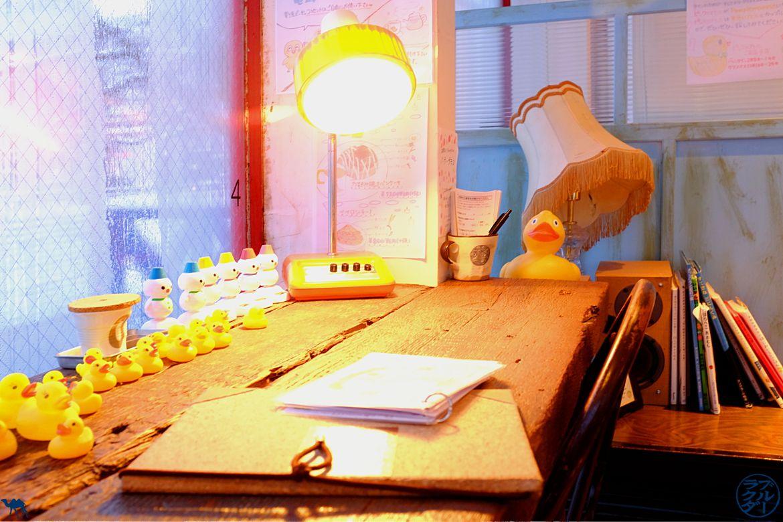 Le Chmaeau Bleu - Blog Voyage Tohoku - Japon - Intérieur Café Pamplemousse