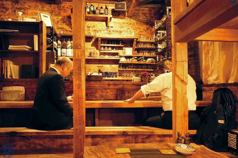 Le Chameau Bleu - Sara Bar à Saké à Tokyo - comptoir