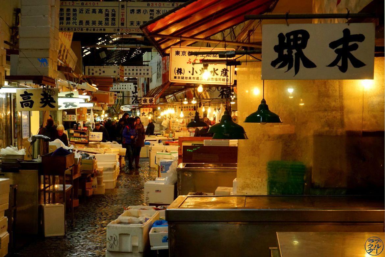 Le Chameau Bleu - Blog Voyage Tokyo Tsukiji - Allée du marché de poisson de tokyo - Tsukiji