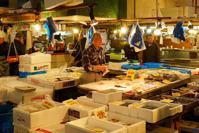 Le Chameau Bleu - Blog Voyage Tsukiji Tokyo - Marché de Tsukiji - Fish Market Japan