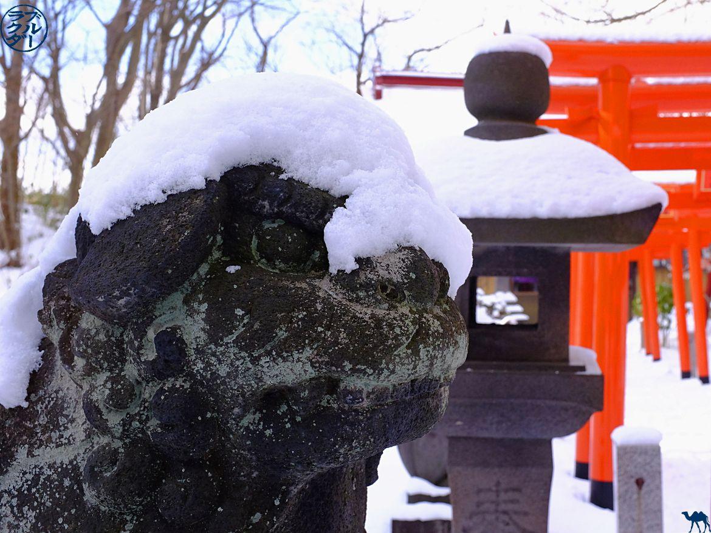 Le Chameau Bleu- Blog Voyage Akita - Scupture temple Akita