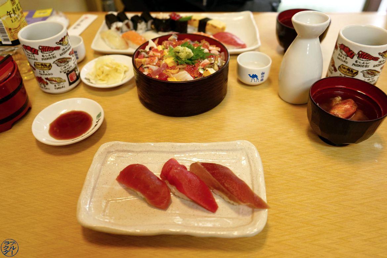 Le Chameau Bleu - Blog Voyage Tsukiji Tokyo - Petit déjeuner de poisson de Tsukiji - Tokyo Japon