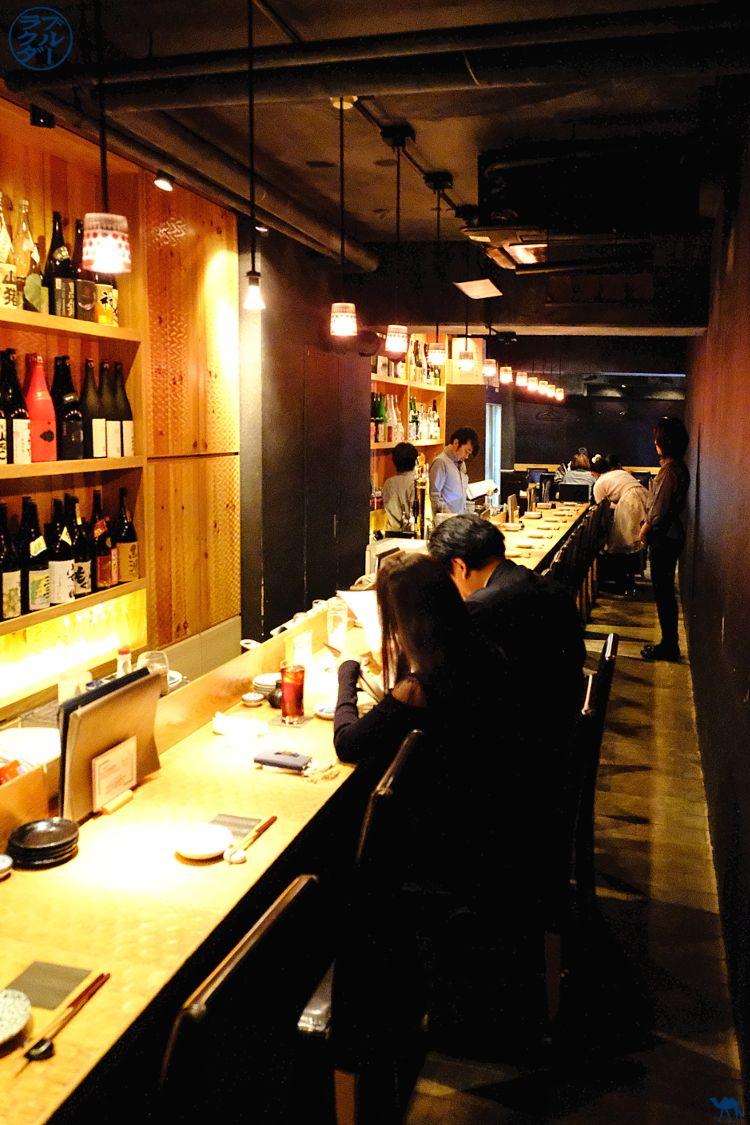 La salle du restaurant Ukyo à Roppongi - Bonne adresse à Tokyo - Le Chameau Bleu
