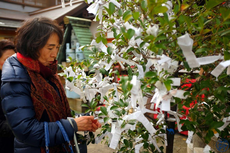Le Chameau Bleu - Blog Voyage Tokyo Tsukiji - Japonaise au Temple japonais à Tsukiji Tokyo Japon