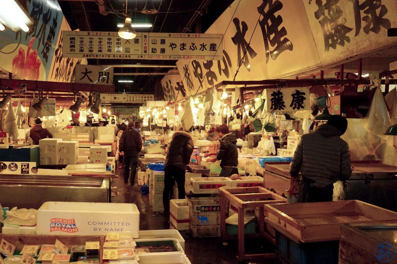 Le Chameau Bleu - Blog Voyage Tsukiji Tokyo - Marché au poisson de Tokyo - Tsukiji