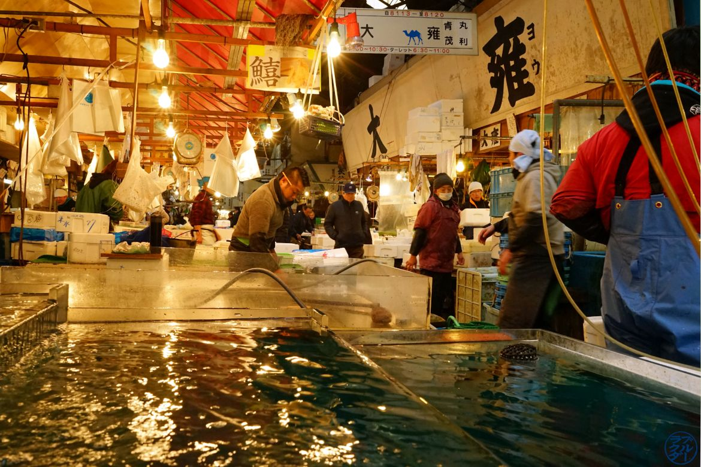 Le Chameau Bleu - Blog Voyage Tsukiji Tokyo - Poissonnier de Tsukiji - Tokyo Japon