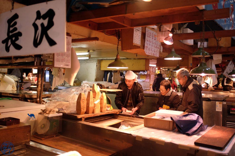 Le Chameau Bleu - Blog Voyage Tokyo Tsukiji - Marché couvert de Tsukiji Japon