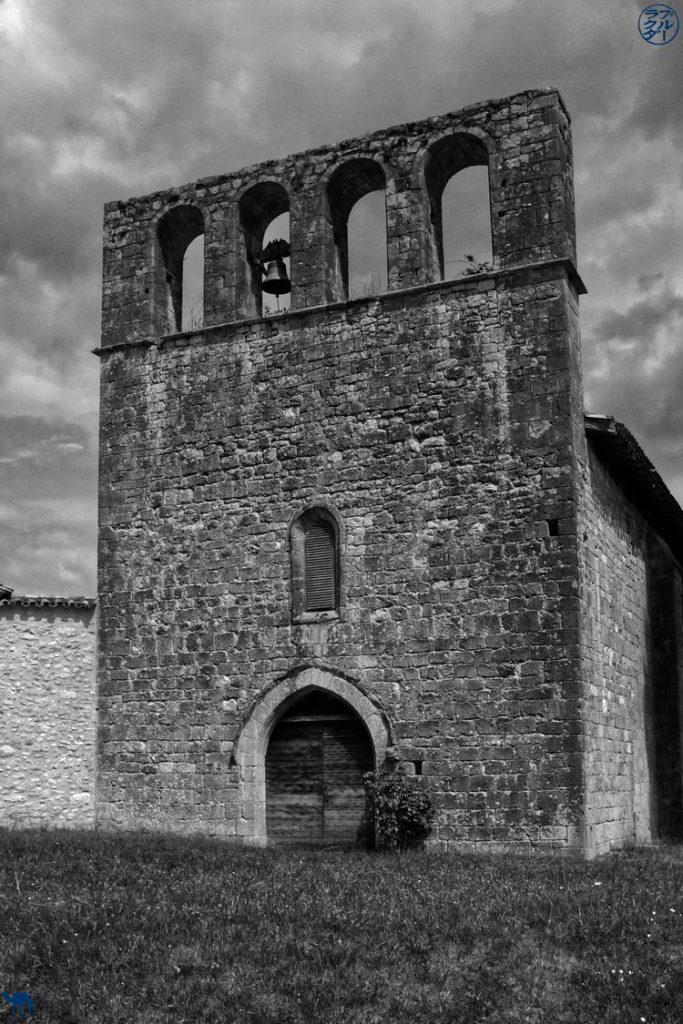 Le Chameau Bleu - Blog Voyage Lot Et Garonne - Mur Clocher de Lassou