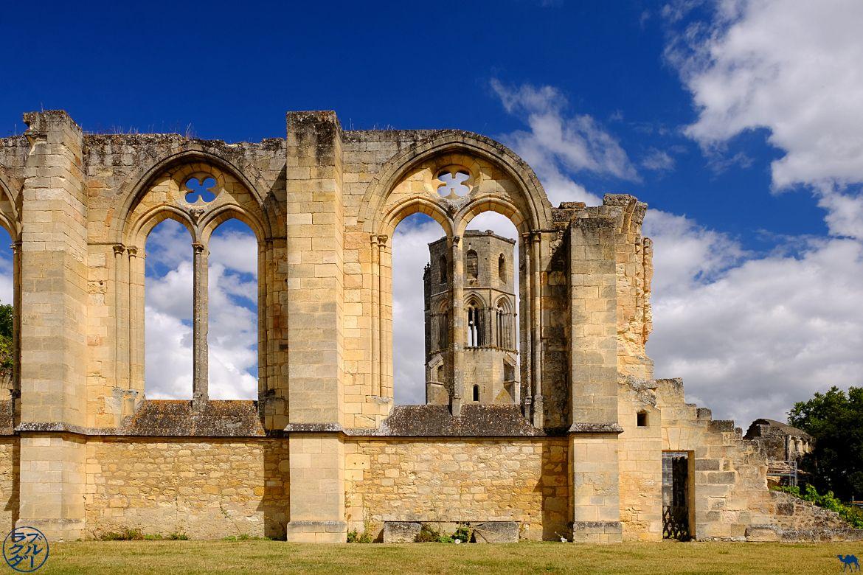 Le Chameau Bleu- blog voyage Canal des deux Mers -abbaye de la sauve majeure en Gironde