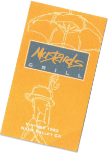 Le Chameau Bleu - Blog Voyage Napa Valley - Mustards Grill Restaurant - Carte de visite