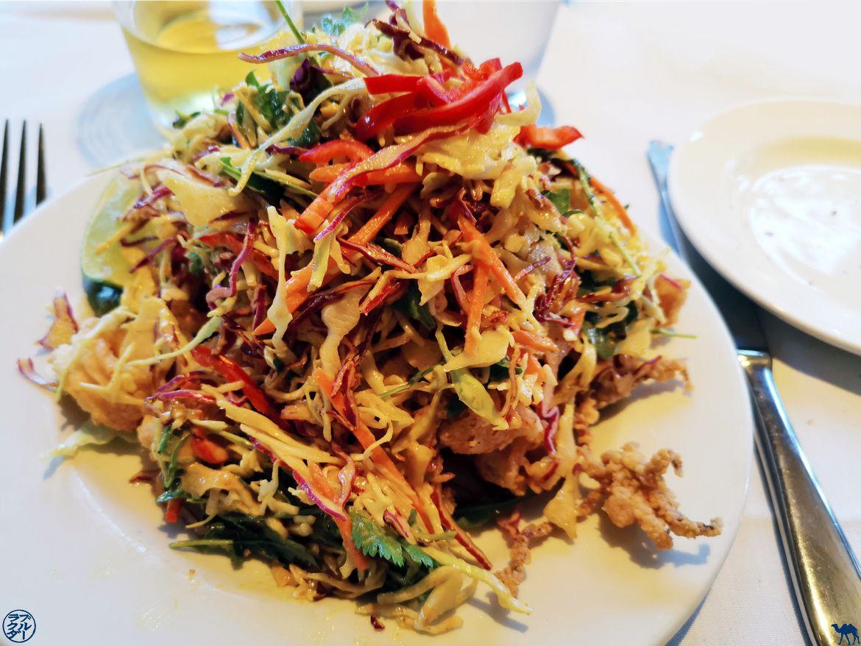 Le Chameau Bleu - Blog Voyage Napa Valley - Mustards Grill Restaurant - Coleslaw et calamars