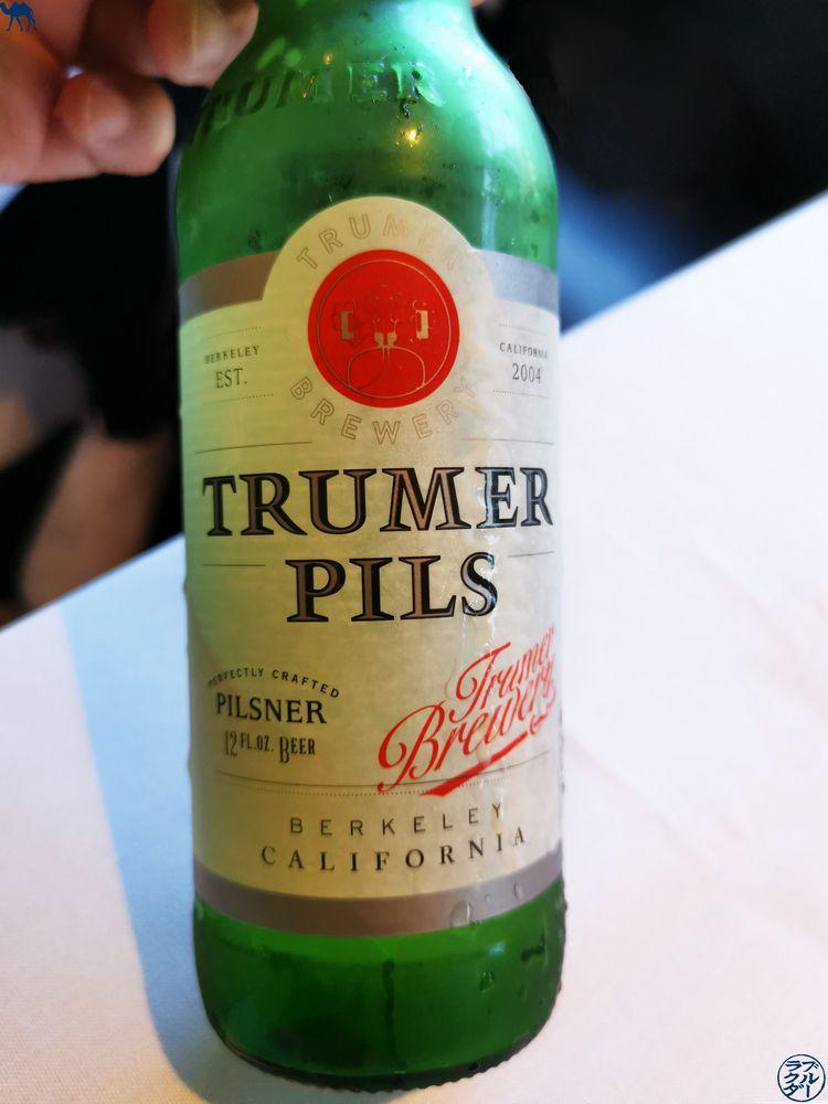 Le Chameau Bleu - Blog Voyage Napa Valley - Mustards Grill Restaurant - Biere