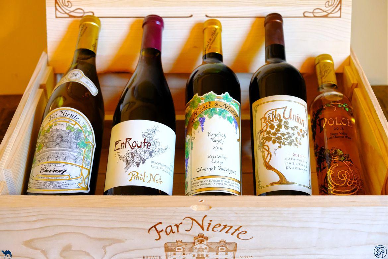 Le Chameau Bleu - Blog Voyage Napa Valley - Vin du domaine Farniente