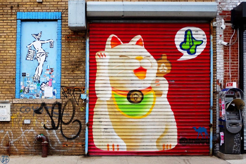 Le Chameau Bleu -Blog Voyage New York City - Lucky Cat Street Art - Buschwick New York USA