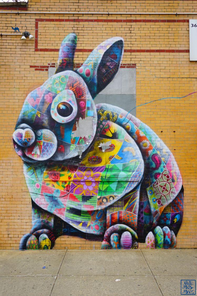 Le Chameau Bleu - Blog Voyage New York City Street Art Bushwick - Lapinou New York Brooklyn