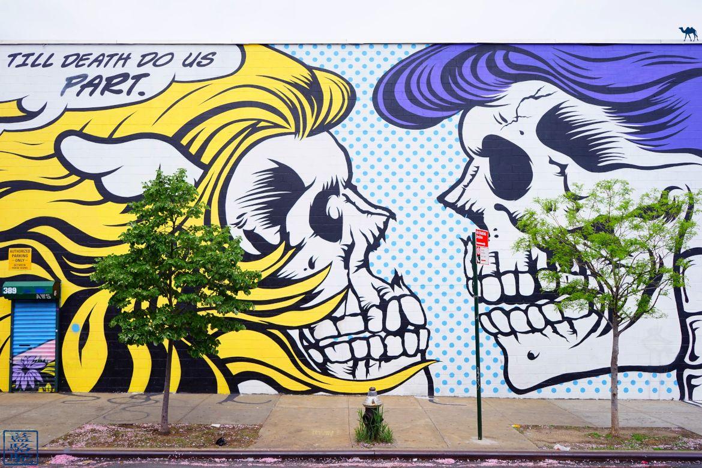 Le Chameau Bleu - Street Art Bushwick - Till Death Do Us Part - New York
