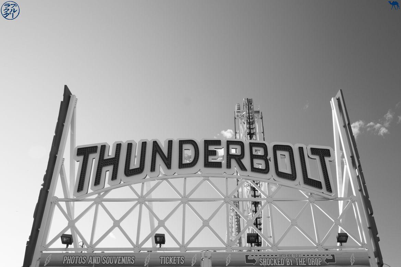 Le Chameau Bleu - Blog VoyageNewYork - Entrée du manège Thunderbolt