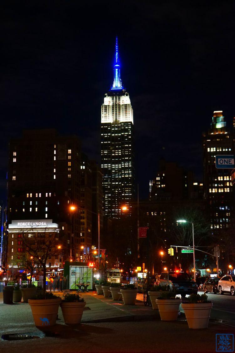 Le Chameau Bleu - L'empire State Building la nuit - Voyage à New York