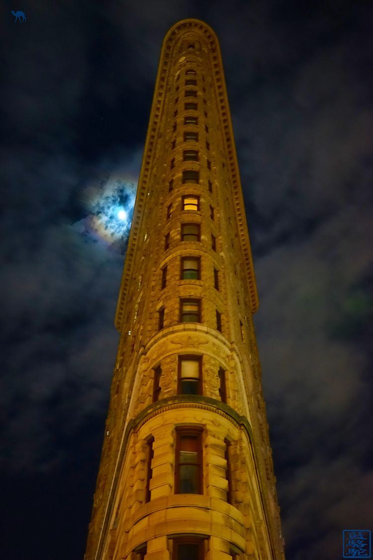 Le Chameau Bleu - Blog Voyage et Gastronomie - New York Flat Iron by night - Attraction de New York