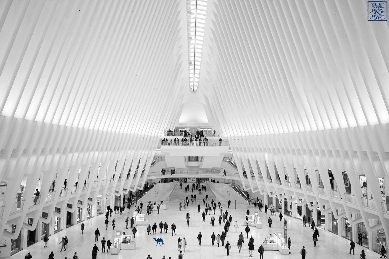 Le Chameau Bleu - L'intérieur de l'Oculus - Stationde métro à New York