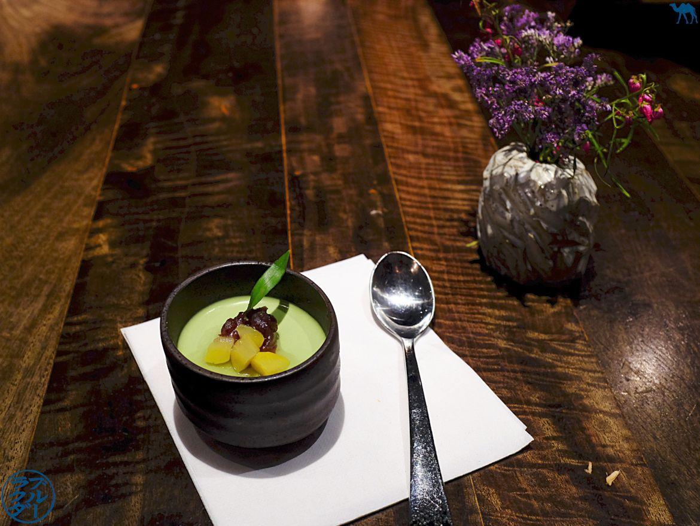 Le Chameau Bleu - Pudding au Matcha de Cha An salon de thé Japonais à New York USA
