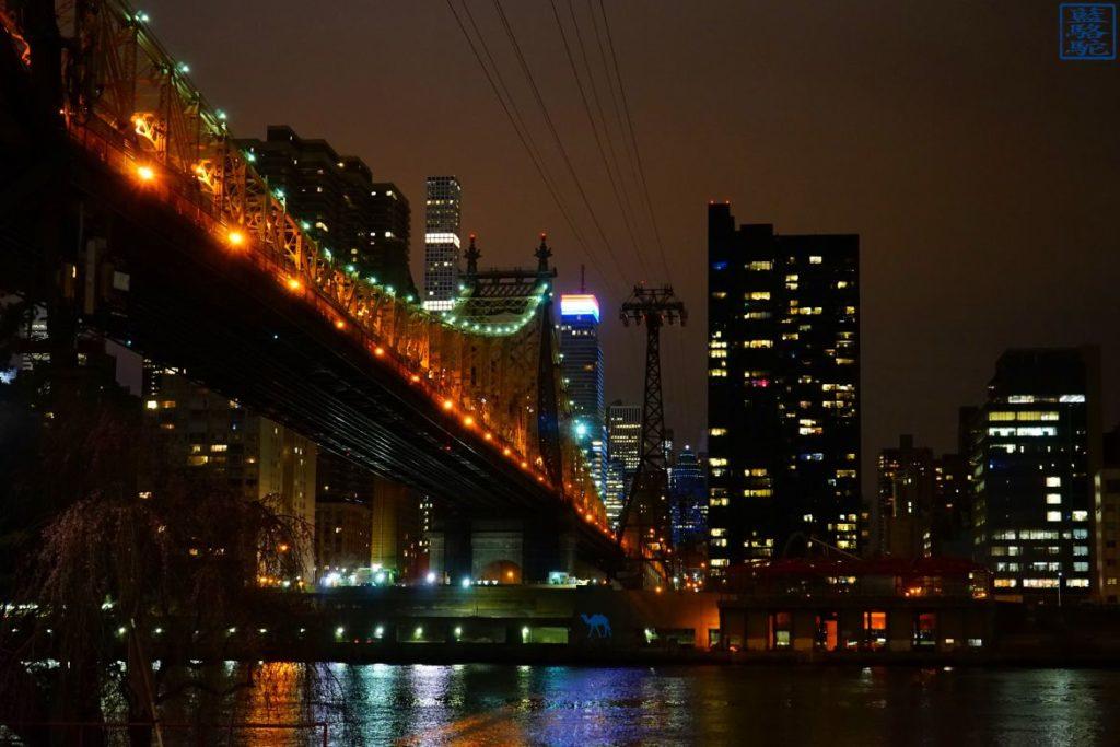 Le Chameau Bleu - Blog Voyage New York City - Le Pont depuis Roosevelt Island