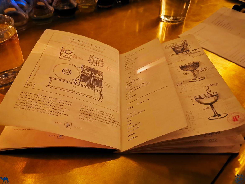Le Chameau Bleu - Blog Bar New York - Patent Pending - SpeakEasy -Menu