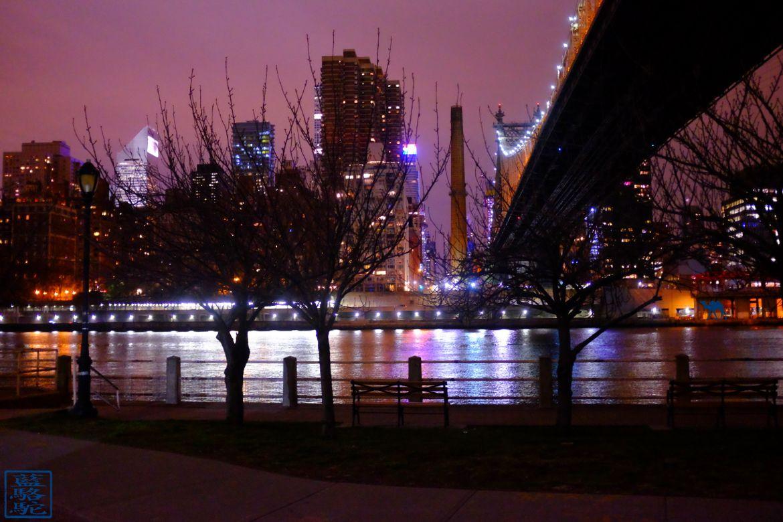 Le Chameau Bleu - Blog Voyage New York USA - Vue de Manhattan depuis Roosevelt Island la nuit