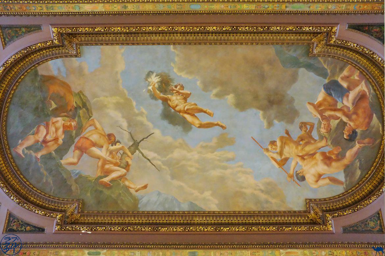 Le Chameau Bleu - Blog Voyage New York - Plafond de NYPL