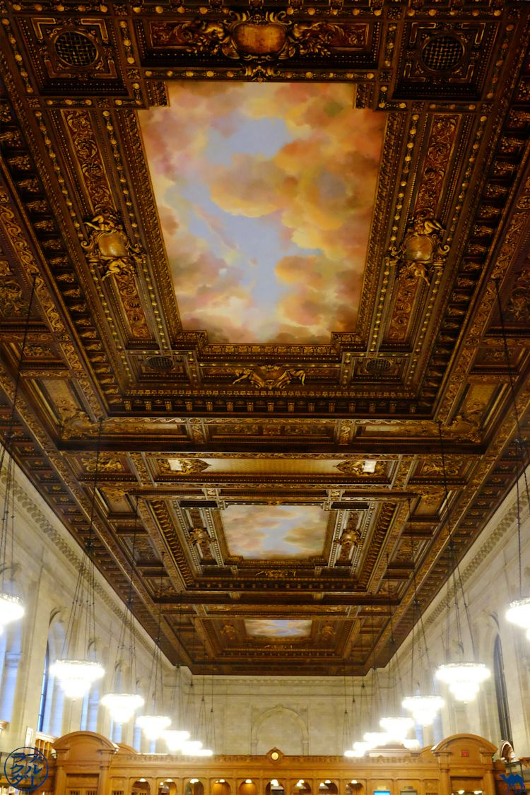 Le Chameau Bleu - Plafond de la Rose Main Reading Room - NYPL Blog Voyage New York City