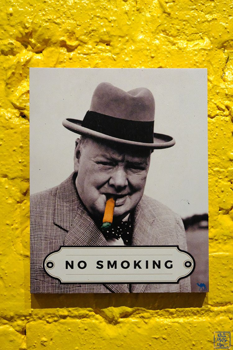 Le Chameau Bleu - Blog Voyage New York City Affiche no Smoking du restaurant Le Botaniste Nyc New York