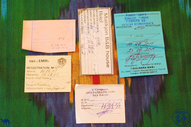 Informations sur l'Ouzbékistan - papiers d'enregistrement - Le Chameau Bleu - Voyage en Ouzbékistan Conseil