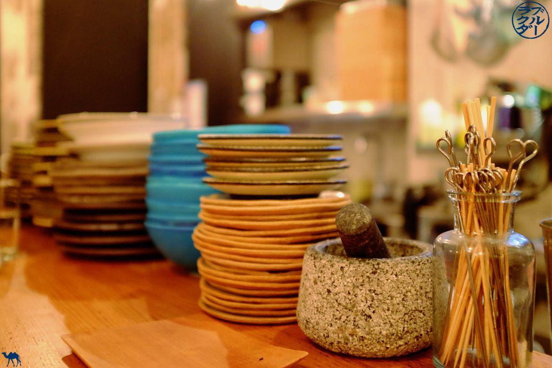 Céramiques japonaise du restaurant gastronomique Dersou à Paris - Le Chameau Bleu Blog Gastronomie