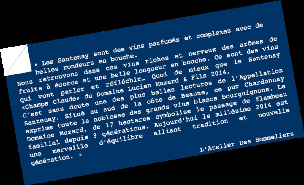 Le Chameau Bleu - Blog Voyage Santenay Bourgogne - Parole de sommelier